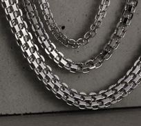 Sterling Silver Bismark Chain Necklaces