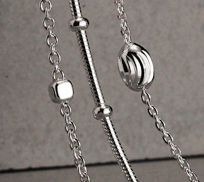 Sterling Silver Chains with Beads Necklaces