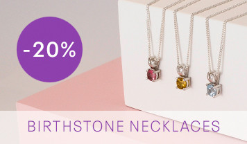 Birthstone Necklace discounted offer banner