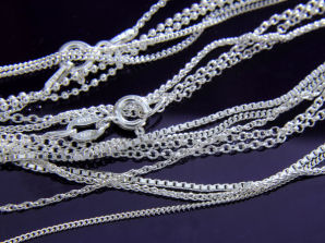 Fine and Light Sterling Silver Chains