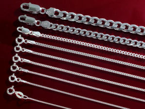 Sterling Silver Curb Chain Collection