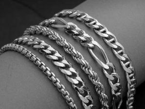 Men's Sterling Silver Chain Link Bracelets