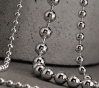 Sterling Silver Ball Bead Chain Necklaces